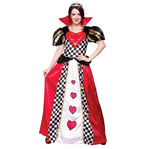 198170f848a19 (L) Ladies Queen of Hearts Costume for Royal Fancy Dress Womens