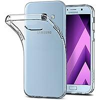 Spigen [Liquid Crystal] Samsung Galaxy A5 2017 Hülle, Transparent Silikon Handyhülle Passgenau Kratzfest Durchsichtige Schutzhülle Case (Crystal Clear)