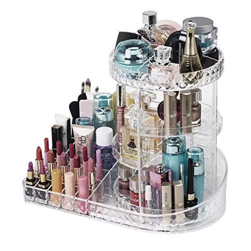 Boîte de Rangement pour Organisateur de Maquillage, Support de Maquillage Rotatif À 360 Degrés, Grande Capacité, Maquillage, Plateau de Rangement pour Cosmétiques, Organisateur