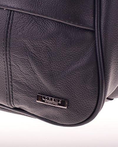 Borsa A Tracolla In Pelle Da Donna Con Tasca Laterale Per Cellulare. (marrone / Nero / Bianco Crema / Beige / Marrone Chiaro / Blu) Nero