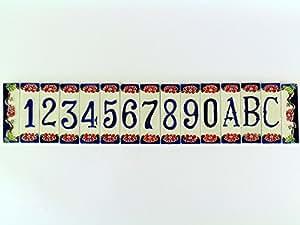 Hausnummern und Buchstaben, zusammensetzbar, Keramik