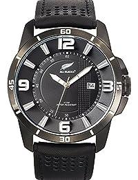 All Blacks - 680185 - Montre Homme - Quartz Analogique - Cadran Noir - Bracelet Cuir Noir