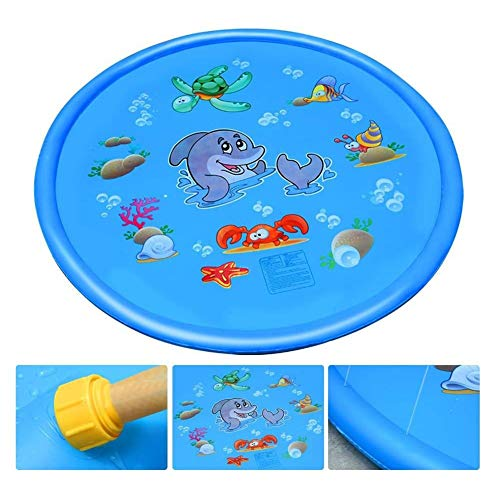 F2 Sprinkler Sprinklerpumpen Kinder Sommer Sprinkler Spielmatte for Kinder, Outdoor Garten Splash Splat Mat Pad for Jungen und Mädchen, Wasserspielmatte Spielzeug for Beach Party (Size : 100cm)