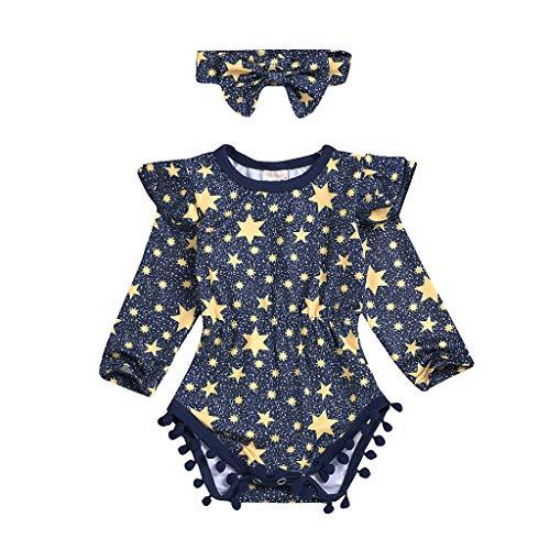 Day.LIN Baby Strampler Mädchen Neugeborenes Baby Mädchen Kleider Rock Sets