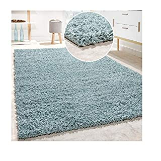 AQS INTERNATIONAL Quality Rugs Shaggy Rug Soft Touch Thick Dense 55mm Pile Home Floor Shaggy Shag Pile | Soft | Comfort| Warmth |Noise Creamuction Shaggy Rugs