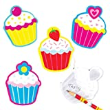 Cool Cupcakes Scented Memo Pads School Set for Children - Fun Party Bag Filler Loot Gifts for Kids (Pack of 8)