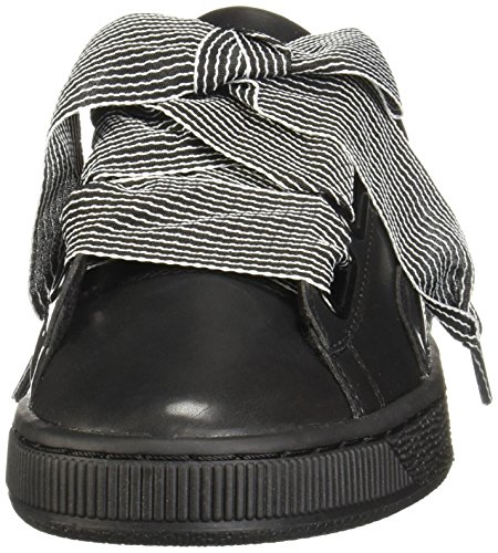PUMA Women s Basket Heart Wn Sneaker  Black Black  6 5 M US