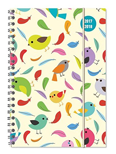 Diary School collegetimer Birds 2017/2018 – spiralata – Weekly – 224 Pages – 15 x 21 cm