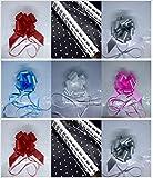 Panier de pois blancs en cellophane Wrap clair papier cadeau gratuit 50mm Nœud à tirer ruban Cadeau Décoration 1234ou 5metres 5 Metres Cellophane With Free 50mm Red Pull Bow