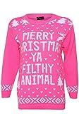 Get The Trend - Damen Frauen Herren Weihnachten Neuheiten Vintage 70s Pullover Retro Design, GREEN REINDEER, Übergröße 44-46