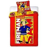 Unbekannt Faro pompiere Sam biancheria bambini 160x 200cm sam004, Cotone, Multicolore, 200x 160cm