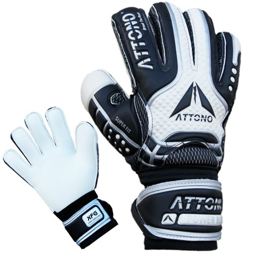 ATTONO Torwarthandschuhe POWER BLOCK V01 Fingersave Torwart Handschuhe Größe 6