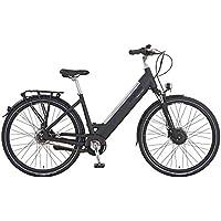 Prophete Damen E-Bike Alu City 28 Zoll Limited Edition 110, RH 50 Elektrofahrrad, schwarz matt, M