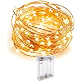 Quace Copper String Led Light 3M 30 LED Battery Operated Wire Decorative Fairy Lights Diwali Christmas Festival - Warm White