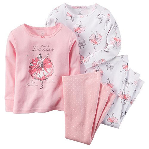 carter-de-4-mix-n-match-bebe-enfant-fille-bellerina-coton-ensemble-pyjama-rose-rose-6-mois