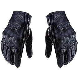 UHAoo 1 par Retro de Cuero de la Motocicleta de Motocross Guantes del Tacto de Pantalla Completa Finger Guantes de protección Engranajes de Motos