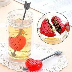 Idea Regalo - Colino filtro infusore Cupido cuore Tea tazza tè foglie the infusi tisane camomilla
