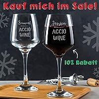 Personalisiertes Harry Potter Weinglas, Harry Potter Geschenke, Valentinstag Geschenk für sie, Accio Wein, Wein Geschenk lustig