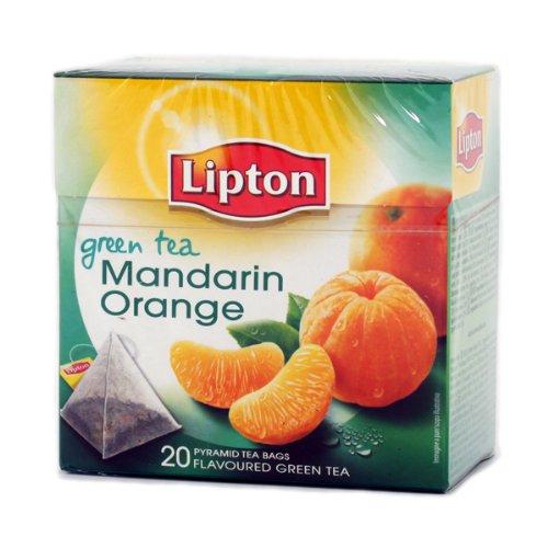 Lipton Grüner Tee Mandarin Orange 6x20 Pyramide Teebeutel - Lipton Tee-orange