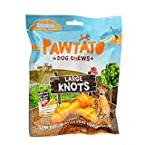 VEGECO Benevo Pawtato Süßkartoffel-Knoten Leckerli für Hunde (180g) (Orange)