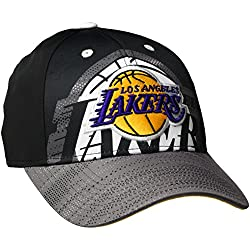 adidas Cap Lakers - Gorra para hombre, color negro / blanco / dorado