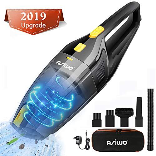 Asiwo Aspiradora de Mano Sin Cable, 7000PA 120W Aspirador Mano con Succión Potente, 3 Cepillos, flitro HEPA y Motor Potente para el hogar y el Coche