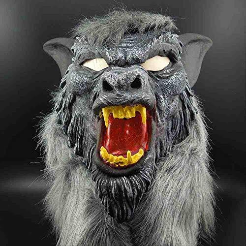 WTNL Halloween Maske Horror Teufel Kostüm Prom Kostüm Maske Wolf Kopfbedeckung Mit Zähnen (Kostüm Kopfbedeckung Zähne)