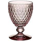Villeroy & Boch Boston Coloured Calice Vino Rosso, Cristallo, Rosa, 9 x 9 x 13.2 cm