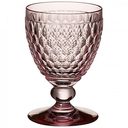 Villeroy & Boch Boston Coloured Verre à vin rouge Rose, 310 ml, Cristal, Rose