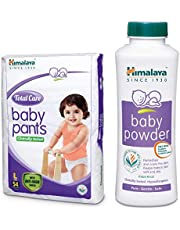 Himalaya Total Care Baby Pants Diapers, Large, 54 Count and Powder (400g) Combo