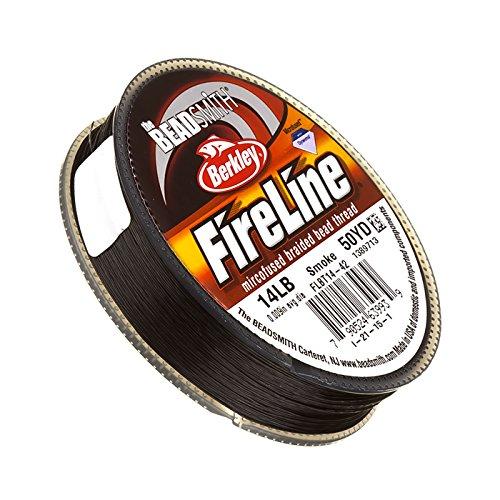"""Fireline Geflochten Bead Gewinde Smoke Grau Vorschlaghammer, 50yd .009\"""""""
