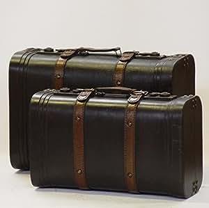 koffer set reisekoffer aufbewahrung box oldtimer geschenk hochzeit lederoptik k che. Black Bedroom Furniture Sets. Home Design Ideas