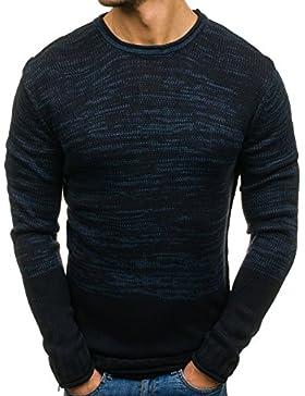 BOLF Hombre Jersey Estampado Cuello Redondo 1A1 Motivo