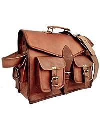Anshika International Vintage Handmade Leather Bag/Genuine Browm Leather Office Laptop And Messenger Bag For Boys...