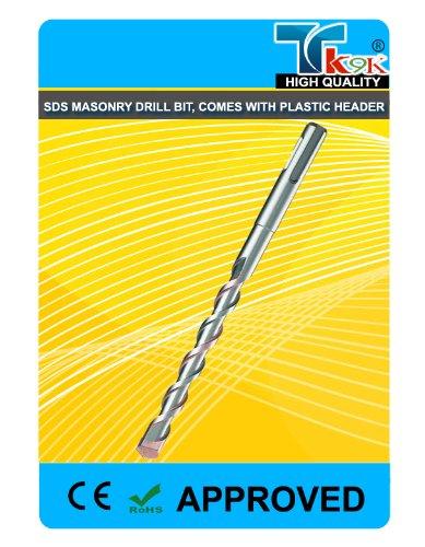 Preisvergleich Produktbild TK9K ®, 8 mm x 450 mm Hammerbohrer Steinbohrer Bit8mm x 450 mm, SDS-Plus Steinbohrer-Bit mit Kunststoff-Konstruktion. headerEasy zu InstallBrand Neu, hochwertige Qualität