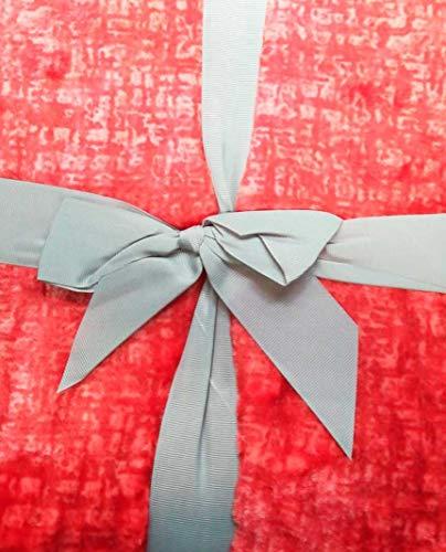 Antilo Plaid Aron 130 x 170 cm Gris (Foulard Multi-usages complément décoration lit et canapé dans Chambre et Salon) 130x170 Rouge