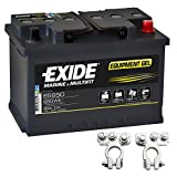 Exide Equipment Gel Batterie ES 650 12V 56Ah inkl. Polklemmen Boot Solar Wohnmobil