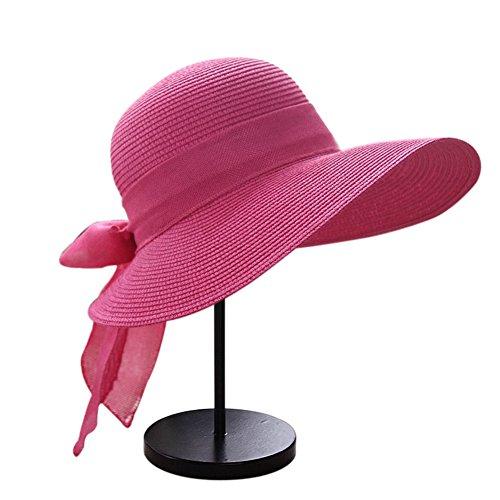 Butterme Donne delle ragazze delle signore pieghevole Cappello di paglia di  Sun 3c4e6f6f2948