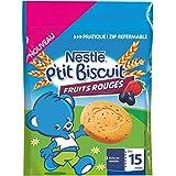 Nestlé Bébé P'tit Biscuit Fruits Rouges - Sachet 150g - Dès 15 Mois - Lot de 6