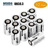 Batterien CR2 3v, LYPULIGHT 12 Stücke CR2 3V Batterie 850mAh Lithium Nicht Wiederaufladbare für Taschenlampe, Digitalkamera, Camcorder, Taschenlampe, Bay Monitor und vieles mehr