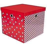 JaBaDaBaDo–Caja Pop rojo de color blanco 32x 32x 28cm