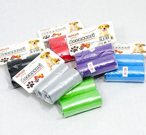 180Hygienebeutel für Hunde, Katzen-(6Packung mit 2Stück cad.)-Gemischte Farben.