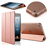 iPad Air Case, SAVFY iPad 5 Case Ultra Slim Lightweight Smart-shell Stand Cover Case With Auto Wake / Sleep for Apple iPad 5 / Air Tablet, Rose Gold
