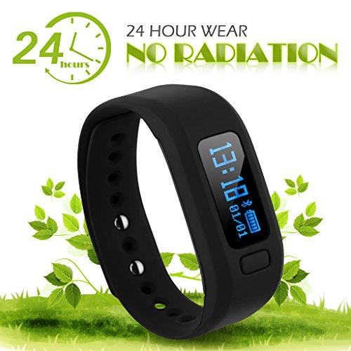 DIGGRO Moving Up2 - Fitness Armband mit OLED Display ( Bluetooth, Smart Armband Fitness Tracker mit Schrittzähler Schlafanalyse Kalorienzähler für IOS Android )