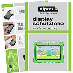 dipos I 2X Pellicola Protettiva antiriflesso Compatibile con Yuntab Q88 Kids Tablet Pellicola di Protezione