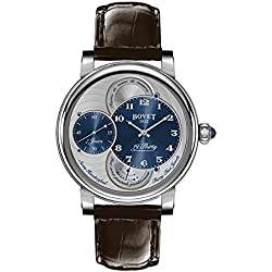 BOVET Men's 19 Thirty Dimier 42mm Brown Alligator Leather Band Steel Case Mechanical Analog Watch RNTS0001