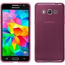 Funda de silicona para Samsung Galaxy Grand Prime - transparente rosa - Cover PhoneNatic Cubierta + protector de pantalla
