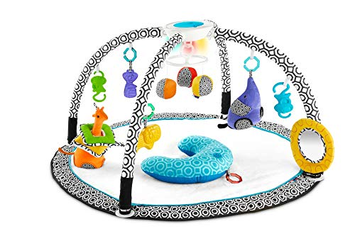 Fisher-Price - Gimnasio Estimula Los Sentidos, Manta de Juego para Bebé Mattel DFP71