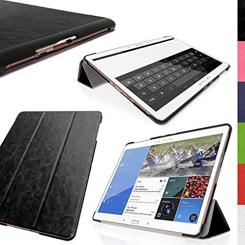 igadgitz Schwarz PU Ledertasche Hülle Smart Cover für Samsung Galaxy Tab S 10.5