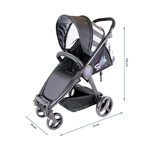iSAFE Sail Stroller - 7 Colours! (Navy) iSafe Media Viewing Extendable Hood Light Weight Sturdy Structure 3
